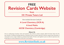 iGCSE Chemistry Revision Tools Website by