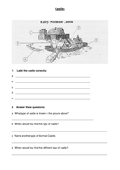 Motte and Bailey Castle Worksheet
