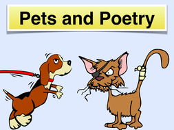 Pets and Poems - Poetry for KS2