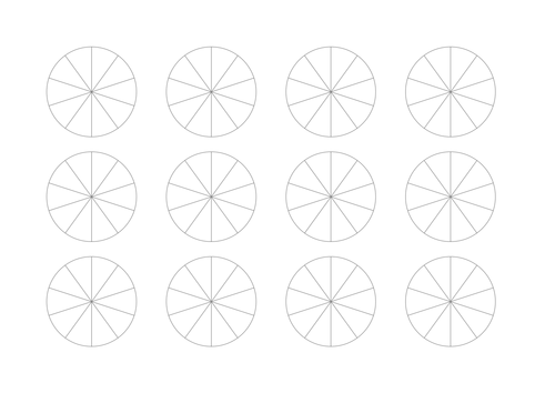 A labour of love: forty nine images of fractions/decimals