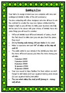 Design a Zoo - Maths problem solving using addition and subtraction, area and perimeter