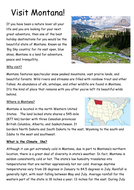 Travel Guide Writing based on the NEW Geography  Curriculum N/SAmerica Study and NEW English KPIs
