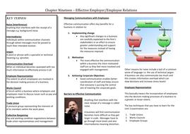 Effective Employer-Employee Relations