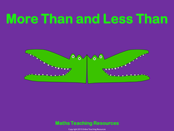more than and less than animated powerpoint presentation and