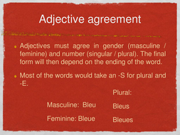 adjective-agreement.ppt