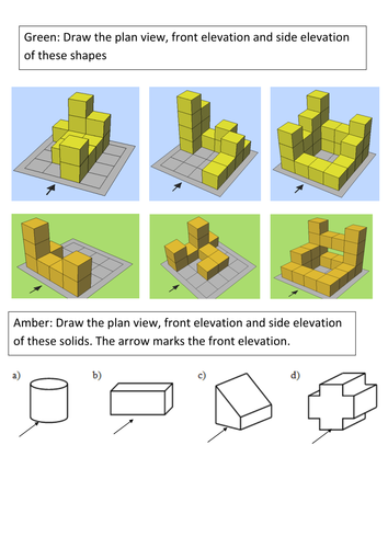 Plan Elevation Tes : Plans and elevations by arwah teaching resources tes