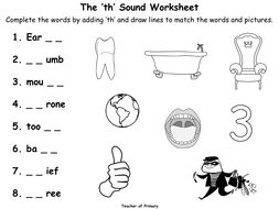The 'th' Sound - Animated PowerPoint presentation and worksheet by ...
