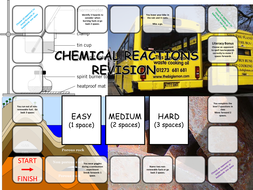 Chemical Reaction Revision Board Game