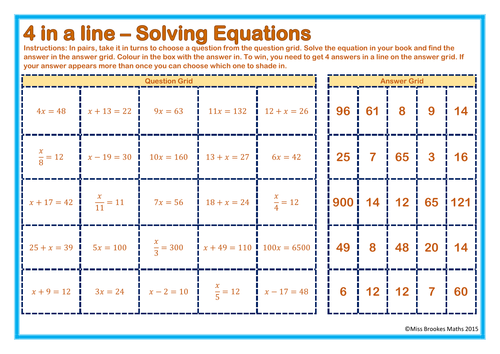 Solving OneStep Equations by Stacy3010 Teaching Resources TES – One Step Equations Worksheets