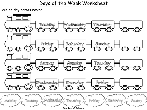 Days Of The Week Powerpoint Presentation And Worksheet