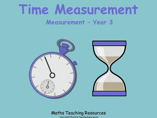 time measurement year 3 animated powerpoint presentation and worksheet by teacher of primary. Black Bedroom Furniture Sets. Home Design Ideas