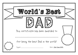 Fathers day 2015 resources certificate templates by worlds best certificates daddyfatherpaandad yadclub Images