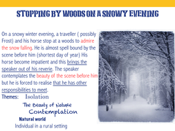 Stopping By Woods On A Snowy Evening By Alexgraham Teaching Resources