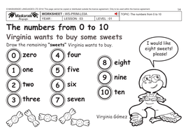 ENGLISH KS2 Level 1: Numbers 0 to 10/ How old are you? by