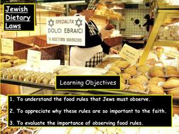 KS3 Judaism  - Kosher food
