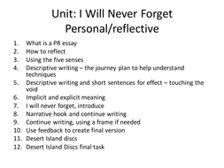 a reflective essay on personal experiences a reflective essay on     Examples