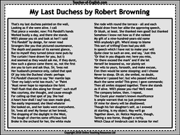 My Last Duchess - 40 slide PowerPoint and 7 worksheets by ...
