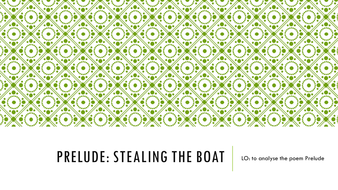 Prelude: Stealing the Boat. Wordsworth