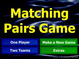 Matching Pairs Interactive Game Creator