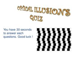 optical illusion quiz