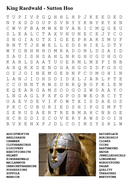 King Raedwald - Sutton Hoo (Anglo-Saxons) Word Search