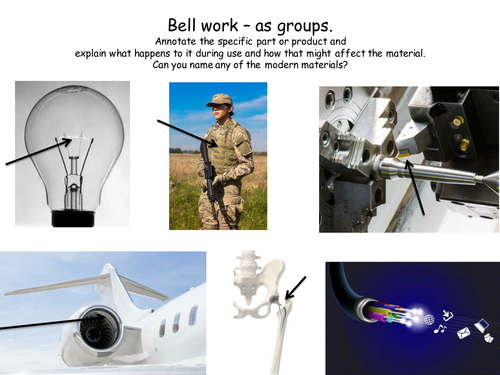 Level 2 BTEC Engineering - Unit 1: The Engineered World  -Modern materials in engineering.