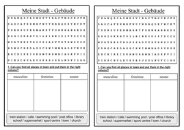 Free Cursive Handwriting Worksheet Generator Pdf German Ks Worksheets Town  Die Stadt  Man Kann By  Worksheet On Idioms Word with Gcse Maths Revision Worksheets Pdf  Diestadtstarterpdf  Tables Worksheet Word