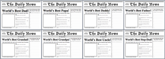 Fathers day resources newspaper front page template worlds best screen shot newspaper front page pdfsg saigontimesfo