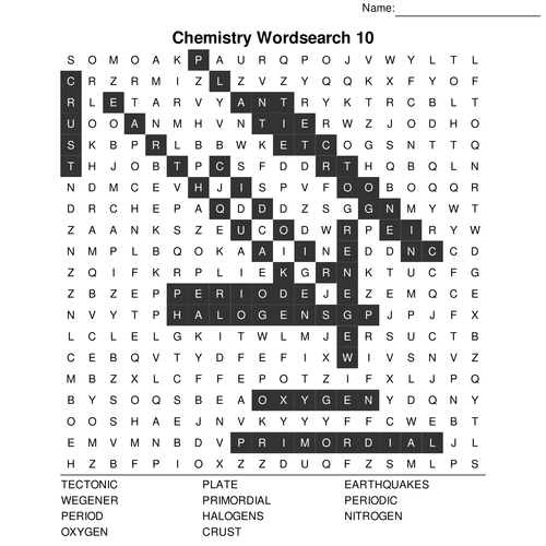 GCSE Chemistry Bumper Wordsearch Pack. 10 Wordsearches
