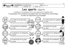 french ks2 level 3 ks3 year 7 free time sports by maskaradelanguages teaching resources. Black Bedroom Furniture Sets. Home Design Ideas