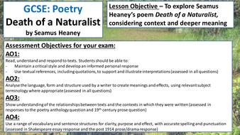 death of naturalist poem analysis