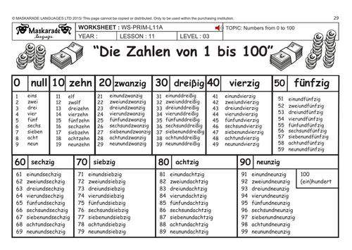 german ks2 level 3 ks3 year 7 practising numbers 1 to 100 my savings account by. Black Bedroom Furniture Sets. Home Design Ideas