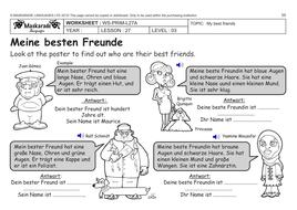 german ks2 level 3 ks3 year 7 describing your friends. Black Bedroom Furniture Sets. Home Design Ideas