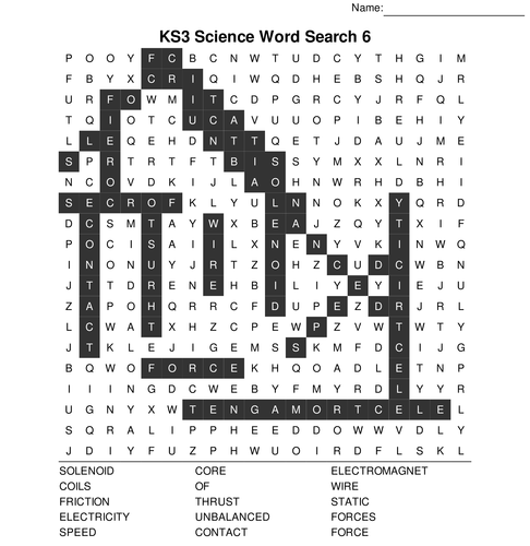 KS3 Science Bumper Fun Wordsearch Megapack. 10 Sets of 10