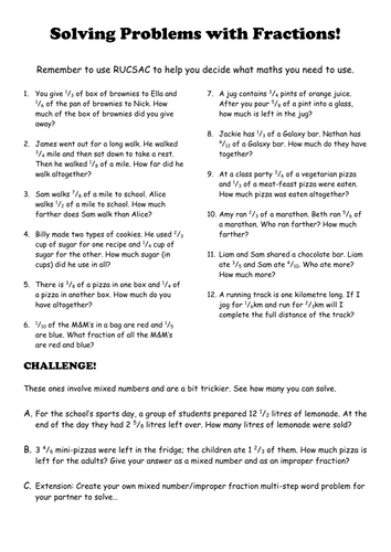 Worksheet Fractions Word Problems Worksheets adding and subtracting fraction word problems by evh4 teaching resources tes