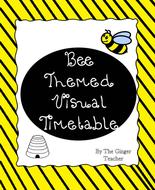 Bee Themed Visual Timetable Display
