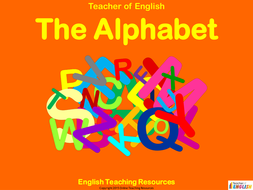 The Alphabet - 106 slide PowerPoint presentation and 24 colouring worksheets