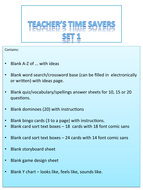 Blank Time Saving Activities/Games/Resources