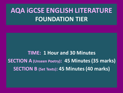 AQA iGCSE Foundation Tier Unseen Poetry