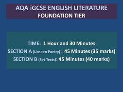 AQA iGCSE Literature (Foundation Tier) Set Texts 'A View From a Bridge'