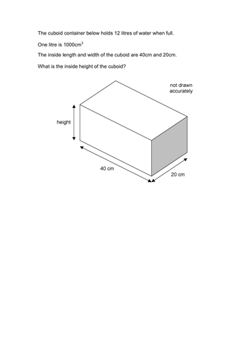 how to find the volume of a cuboid ks2