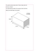Maths KS2 KS3 KS4 Foundation: Volume of cuboids, with a