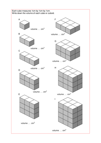 Worksheets Volume Counting Cubes Worksheet maths ks2 ks3 ks4 foundation volume of cuboids with a wide range counting cubes shaded doc
