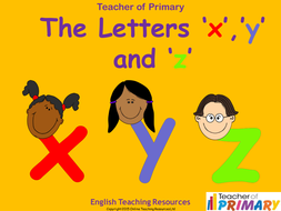 The-Letters-X-Y-and-Z.ppt