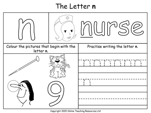 Letter N Worksheets For Kindergarten Sharebrowse – Letter N Worksheets for Kindergarten