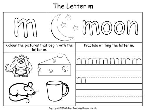 Pre K Letter M Worksheets pre k worksheets for letter m to her