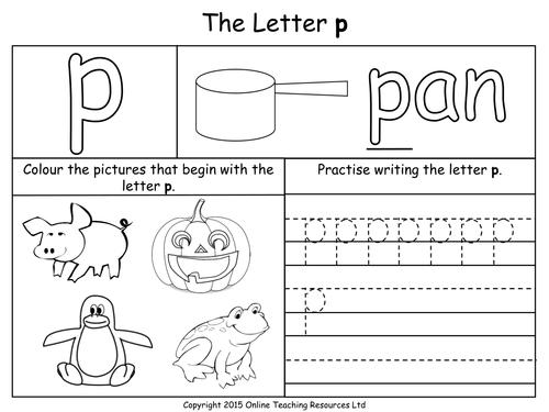 Letter P Worksheets For Kindergarten | Coloring Pages