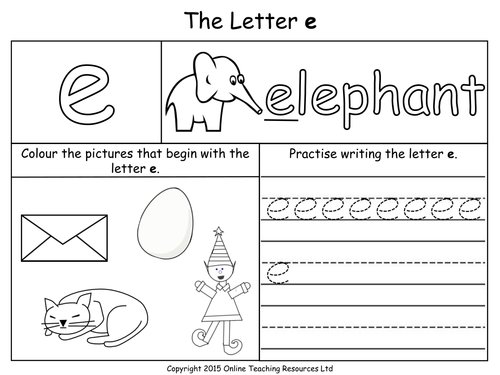 Letter E Worksheets For Kindergarten Photos - pigmu