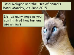 Uses of Animals- Animal rights
