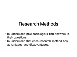 research methods in sociology essay example The methods section of a research paper provides the information by points to incorporate when writing the methods section basic research for example.